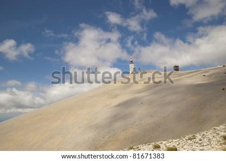 Famous pre alps mount, Mont Ventoux, in Provence, Vaucluse, France