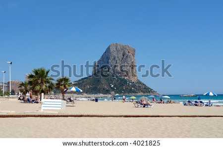 famous beaches in spain. stock photo : Famous resort of