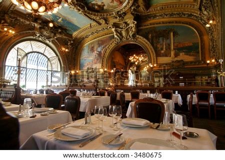 famous restaurant le train bleu at gare de lyon in paris stock photo 3480675 shutterstock. Black Bedroom Furniture Sets. Home Design Ideas