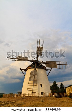 Famous Retz Historic Windmill, Lower Austria