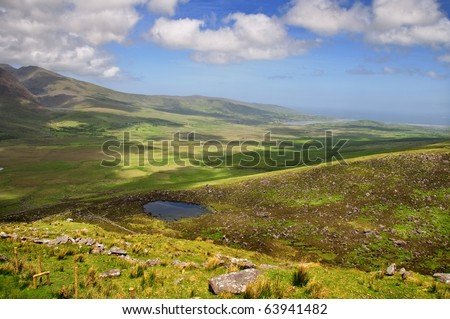 famous ring of kerry landscape ireland - stock photo