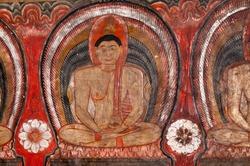 Famous Rock and Cave Temple at Dambulla SriLanka