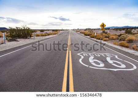 famous route 66 landmark on the ...