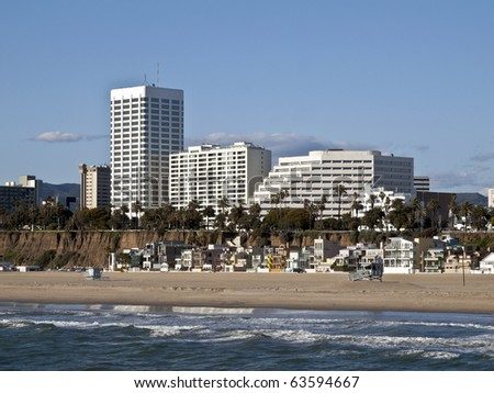 Famous Santa Monica beach in Southern California.