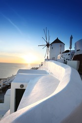 Famous Santorini Island in Greece