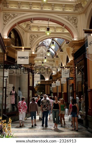 Famous Shopping Arcade In Melbourne, Australia Stock Photo 2326913 ...
