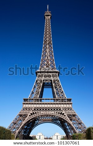 Famous sightseeing of Paris Eiffel Tower, France