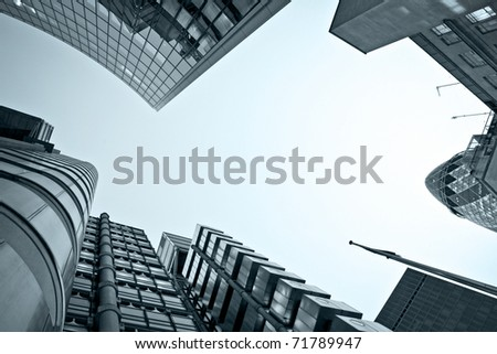 Famous skyscrapers in the financial district of London
