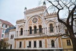 Famous Spanish Synagogue in the Jewish quarter of Prague