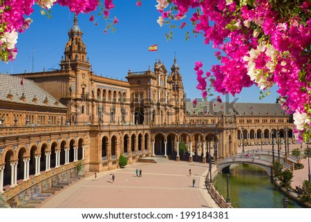 Shutterstock Famous square of Spain in Seville, Andalusia, Spain