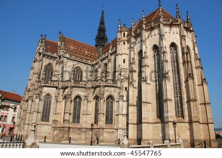 Famous St. Elizabeth's Catedral in Kosice, Slovakia - stock photo