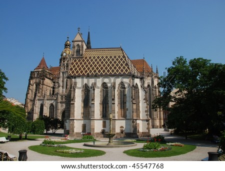 Famous St. Elizabeth's Catedral in Kosice, Slovakia