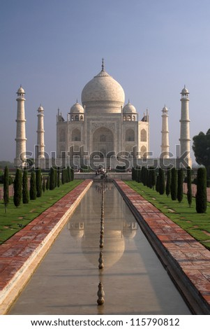 Famous Taj Mahal in Agra, India