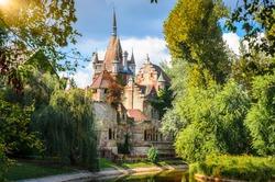 Famous Vajdahunyad castle in Budapest, Hungary