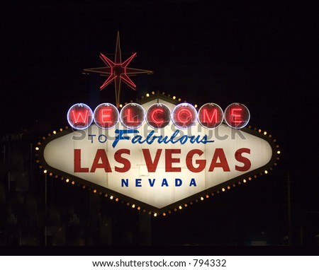 famous vegas sign at night