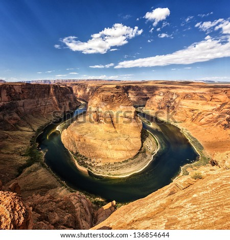 Famous view of horseshoe Bend, USA #136854644