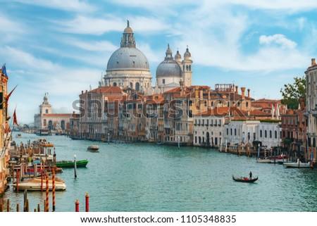 Famous view to Basilica di Santa Maria della Salute #1105348835