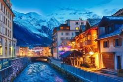 Famous Village Chamonix, Haute Savoie, Rhone Alps, France