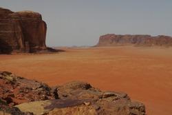 famous Wadi Rum desert, Jordan, Middle East. Valley of the Moon