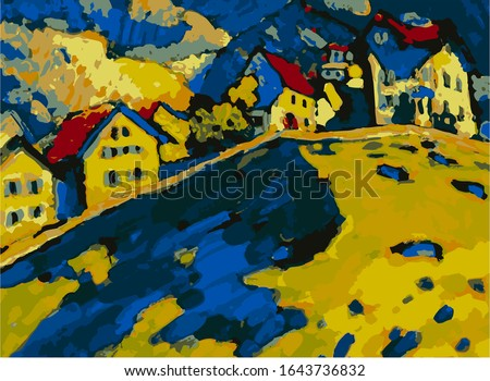 Famous Wassily Kandinsky Painting. Art. abstract.