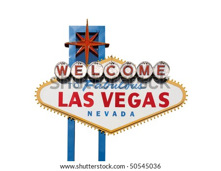 Famous Welcome to Las Vegas sign in Nevada USA.