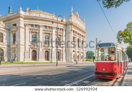 famous wiener ringstrasse with...