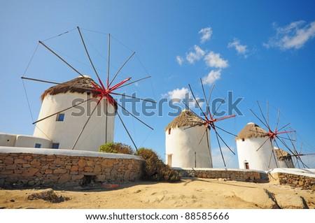 Famous windmill of Mykonos, Greece