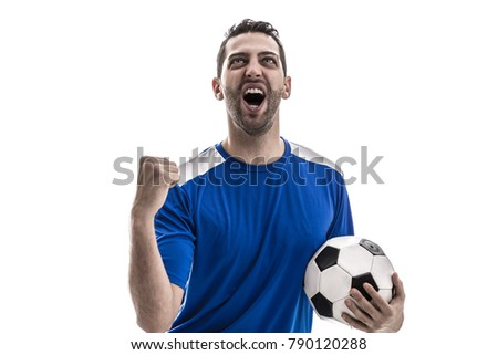 fan celebrating on white background - Shutterstock ID 790120288