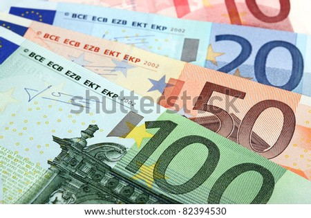 Fan made of euro banknotes