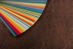 Fan of colorful adhesive vinyl.
