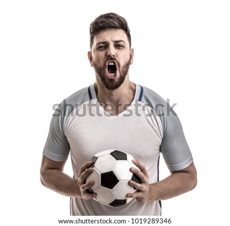 Fan / Sport Player on white uniform celebrating - Shutterstock ID 1019289346