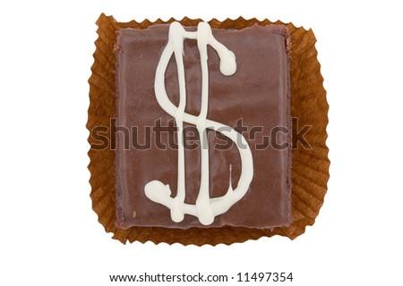 fancy cake with dollar symbol