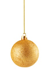 Fancy christmas ball isolated on white background