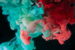 fancy color of ink in deep water