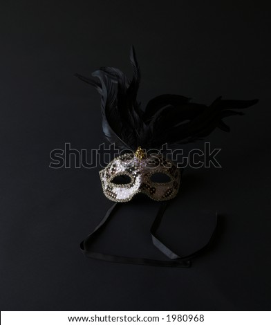 Fancy Mask Isolated on Black