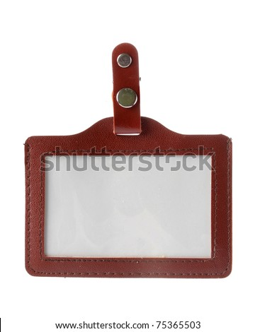 fancy Name Tag isolated on white background