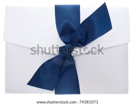 Fancy Paper Invitation Isolated on White with a Clipping Path.