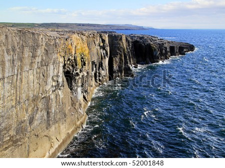 Fanore cliff in Ireland