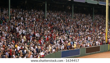 fans at baseball game