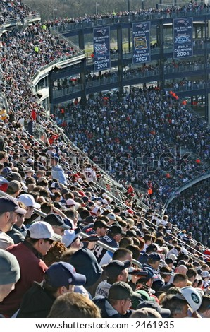 Fans Cheering at Gillette Stadium