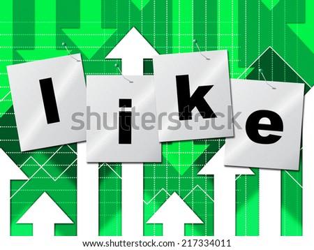 Fans Like Indicating Social Media And Liked