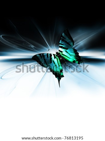 Fantastic abstract design with beautiful butterfly