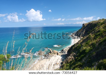 Fantastic Calabria coast in Italy