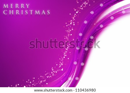 fantastic christmas wave design with snowflakes and space for your text