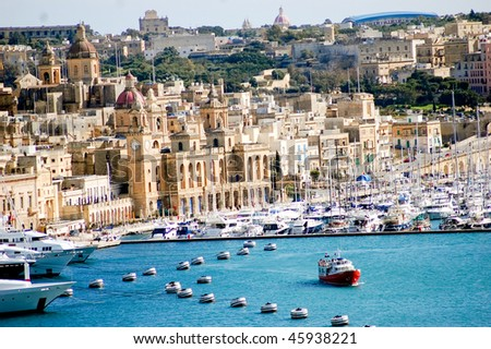 fantastic city landscape on the seaside in malta