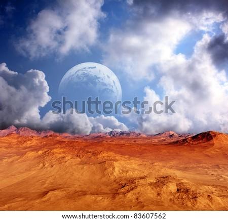 fantastic colorful desert