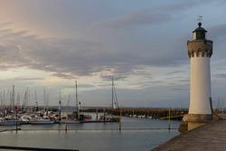 Fantastic colors at the dusk in Port Haliguen, Quiberon, Brittany