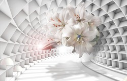 Fantastic 3D background wall design