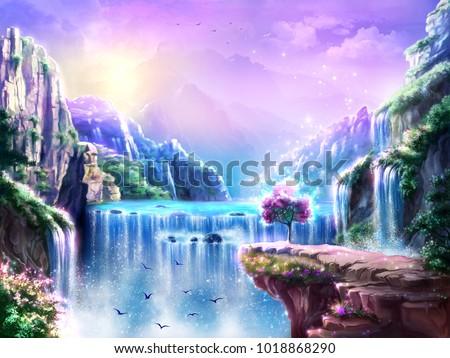 fantastic fairy tale background ...