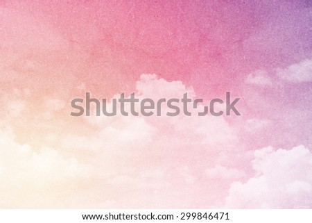 fantastic fluffy cloud and sky abstract background with grunge paper  texture